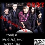 March 29th, Orgy at Backstage Bar in Tacoma, WA