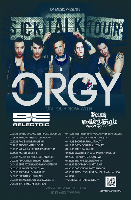 Orgy 2015 Sick Talk Tour