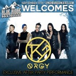 Orgy to play Blue Ridge Rock Fest @ Lynchburg, VA 09/09/2017